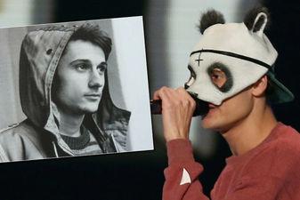 Die Maske für die Person der schwarze Preis für